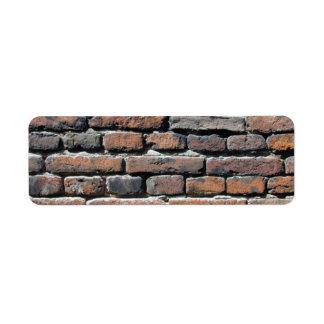 Brick Wall Return Address Label