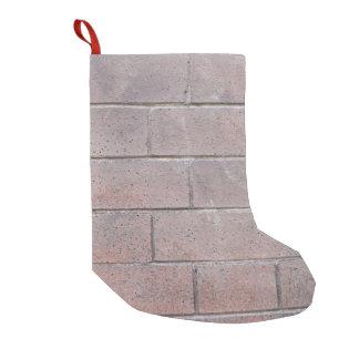 Brick Wall Small Christmas Stocking