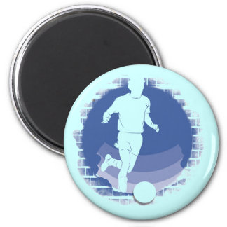 Brick Wall Soccer T-shirts and Gifts 6 Cm Round Magnet