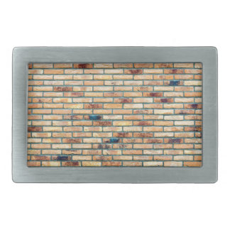 Brick wall with several colors rectangular belt buckle