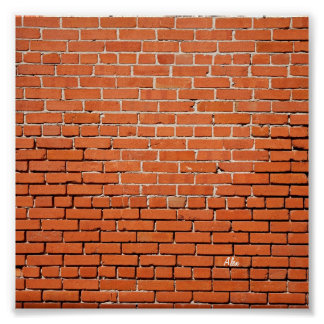 Brick Wall with Your Name on it Poster