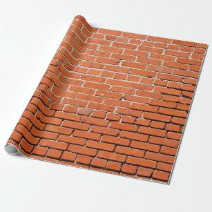 Red Brick Wrapping Paper Zazzle Com Au