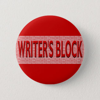Brick Writer's Block 6 Cm Round Badge