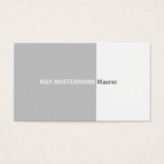 Bricklayer visiting card
