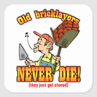Bricklayers Square Sticker