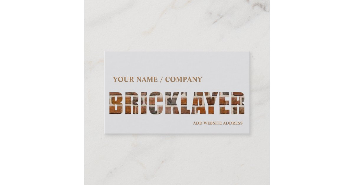 Bricklaying Business Card | Zazzle.com.au