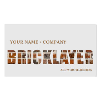 Bricklaying Business Card