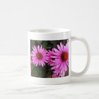 bricks and flowers basic white mug