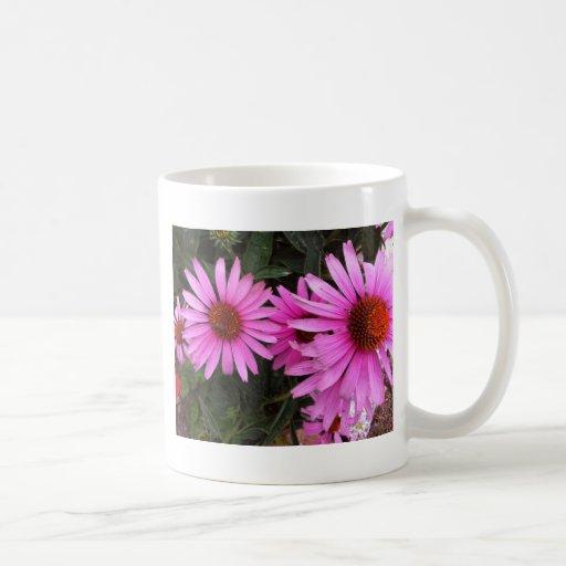 bricks and flowers mugs