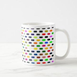 bricks basic white mug