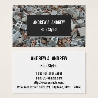 Bricks & Blocks Demolition Rubble Debris Business Card