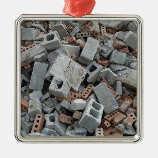 Bricks & Blocks Demolition Rubble Debris Metal Ornament