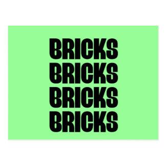 BRICKS BRICKS BRICKS POSTCARD