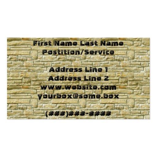 Bricks Business Cards