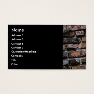 Bricks & Cement or mortar 2 Business Card