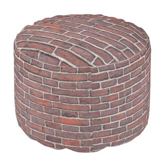 Bricks Grade A Woven Cotton Round Pouf