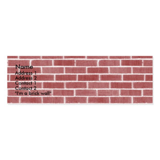 Bricks Pack Of Skinny Business Cards