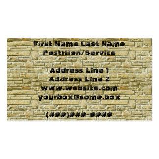 Bricks Pack Of Standard Business Cards