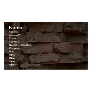 Bricks without mortar, used to construct Cham Towe Pack Of Standard Business Cards