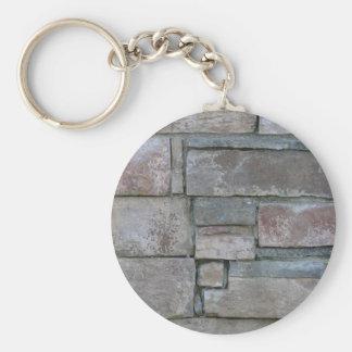 Brickwork for Mason or Brick Layer Basic Round Button Key Ring