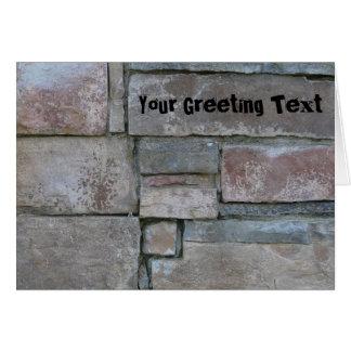 Brickwork for Mason or Brick Layer Greeting Card