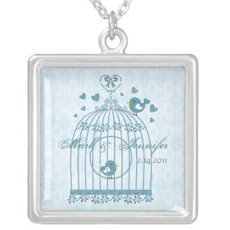 Bridal Bird Cage Personalized Necklace