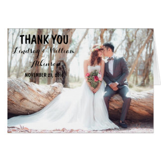 Bridal Bouquet Red Flowers/Thank You Card