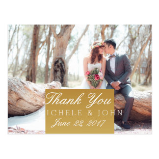 Bridal Bouquet Red Flowers/Thank You Postcard