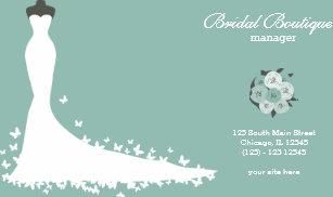 Bridal shop business cards zazzle au bridal boutique choose your background colour business card reheart Gallery