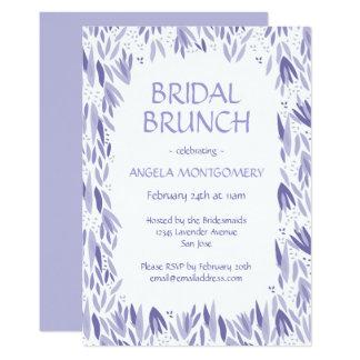 Bridal Brunch Lavender Leaves Pattern 13 Cm X 18 Cm Invitation Card