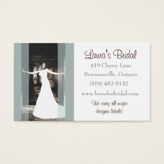 Bridal shops business cards business card printing zazzle bridal business card reheart Images