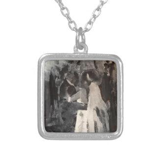 Bridal Dance Painting Necklace