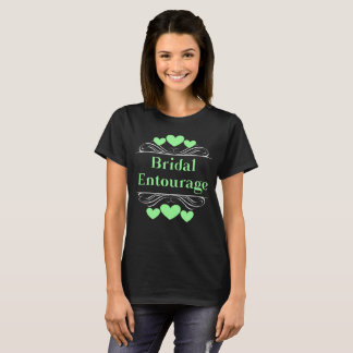 Bridal Entourage Heart Tee~Mint Green T-Shirt