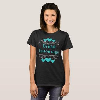Bridal Entourage Heart Tee~Teal T-Shirt