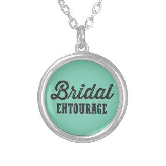 Bridal Entourage Round Pendant Necklace