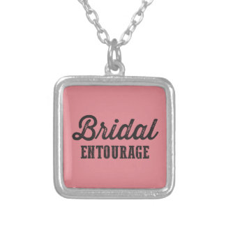 Bridal Entourage Square Pendant Necklace