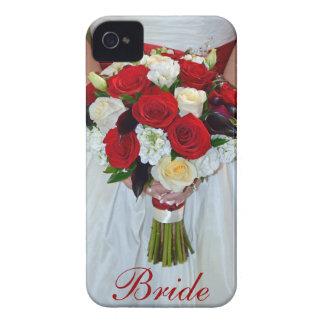 Bridal floral bouquet iphone 4 case