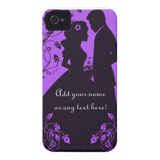 Bridal Floral - Purple iPhone 4 Case