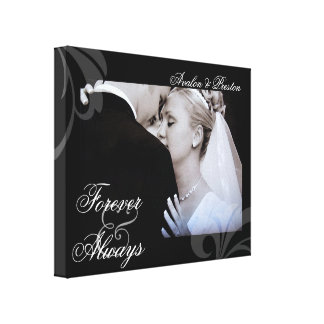 Bridal Forever & Always Add Your Photo Canvas Canvas Print