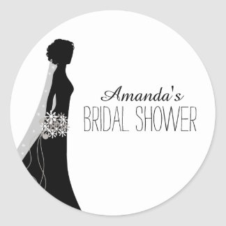 Bridal Gown | Bridal Shower Favor Stickers