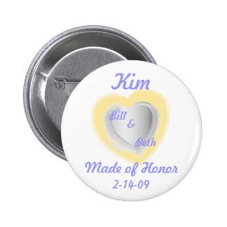 Bridal Keepsake Button-Customize