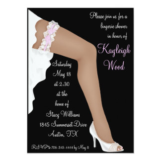 Bridal Lingerie Shower Personalized Ethnic Card