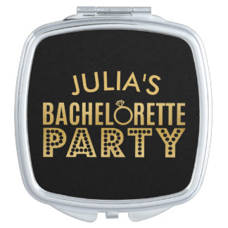 Bridal Party Bachelorette Party Gold Mirror