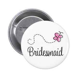 Bridal Party Bridesmaid Button