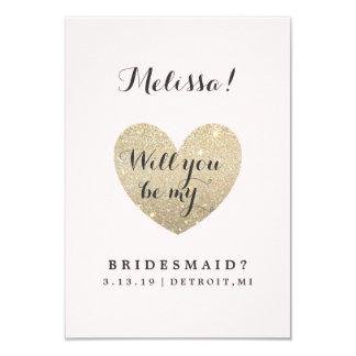 Bridal Party Card - Heart Fab 9 Cm X 13 Cm Invitation Card