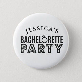 Bridal Party Custom Bachelorette Party Badges Pin