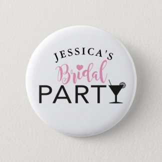 Bridal Party Custom Team Bride Cocktail Badges Pin