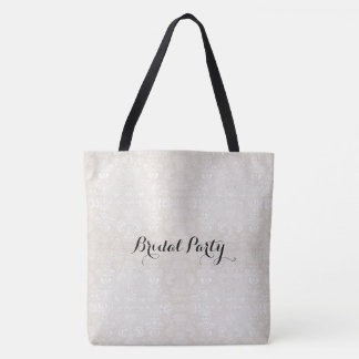 Bridal_Party_Damask_LG _Multi-Sizes Tote Bag