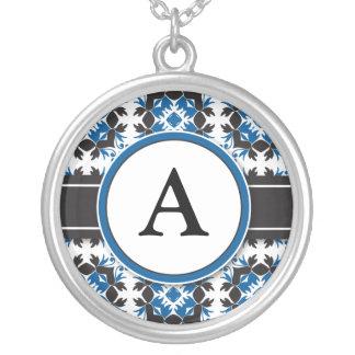 Bridal Party Gift - Monogram Pendant blue