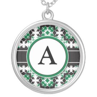 Bridal Party Gift - Monogram Pendant green